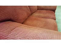 Red Two Seater Sofa in Good Condition