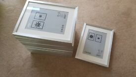 12 x Silver IKEA Ribba Frames 30cm x 40cm
