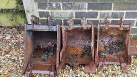Various Mini digger buckets