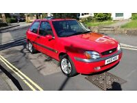 2001 FORD FIESTA 1.25 PETROL 3 DOOR HATCHBACK RED 2 PREVIOUS OWNERS SERVICE HISTORY 12 MONTHS MOT