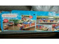 Sylvanian families toys boat and car