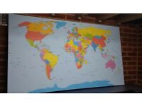 Extra Large canvas print World Map 60-34inch