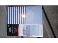 Single bed duvet cover blue stripes