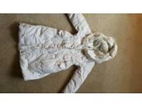 Beautiful Monsoon puffa 'duvet' coat, age 4-6