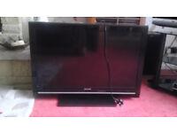 """SHARP 32"""" LCD TV SPARES OR REPAIR ***FREE***"""