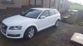 5dr White Audi A3 1.6 TDI/ £20 Tax/ £6,800 ono/ MOT NOV 17