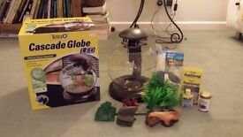 Tetra Cascade Globe with LED lights, VGC + Accessories
