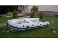 12ft rib for sale seats 4 strong light easy transport