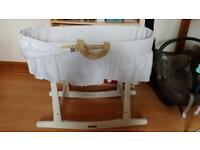 Clair du Lune Moses Basket and mattress