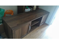 Large wooden TV Stand. Suitable for upto 50 Inch TV. Good Storage.