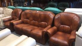 Antique brown Italian leather