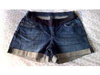Under bump denim shorts (Seraphine, size 16)