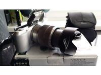 £75 BARGAIN PRICE ! Sony Alpha NEX-C3 16.2MP Digital SLR Camera - POSS SWAP DUMBBELLS?