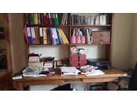 Solid Wood Pine Bookshelf/Table/Work station