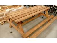 NEW PRESSURE TREATED PICNIC BENCH /TABLE FREE LOCAL DELIVERY