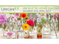 Spring Craft Fair here at LifeCare, Strockbridge. Beautiful handmade crafts. Free Entry