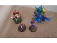Skylander Trap Team Figures x 4