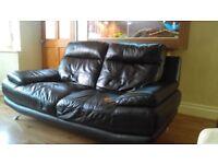3+2 seater leather sofa