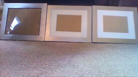 6 new silver metal edged picture/photo frames
