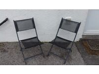 Pair of weather-proof garden chairs