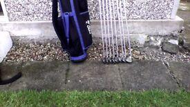 Golf irons - Ping Eye 2 (£40) + summer/light golf bag (£10)