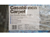 Casablanca Caravan Awning Tent Decking Breathable Carpet 2.5m X 6.5m White & Charcoal £35 ono