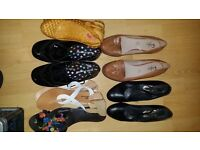 Variety of different shoes. Prada/ hush puppy and more
