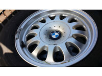 bmw alloys 15 inch with good tyres