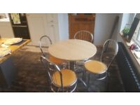 Small dining table and chairs