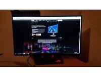 ASUS ROG Swift PG279Q Gaming Monitor 27'' 2K WQHD (2560 x 1440) IPS, overclockable 165Hz, G-SYNC