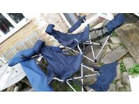 Set of 2 Garden/Camping chairs with covers - easy to fold and unfold, only £15 for both!