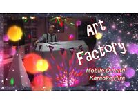 """Art Factory"" Professional Mobile DJ & Karaoke Host, Weddings, Private Functions, Children's Parties"