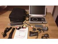 Wharfedale Portable DVD Player with battery pack & accessories