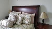 QUEEN SLEIGH BED FOR SALE! *Need it gone ASAP - Moving*