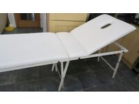 6 ft FOLDING Portable MASSAGE BEAUTY TABLE Metal Legs 2 sections