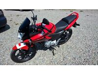 2012 Honda CBF125. Low mileage and in excellent condition.