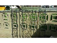 ×2 PAIRS AND x1 SINGLE WROUGHT IRON GATES 1930s