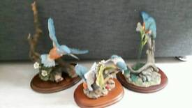 Collection of Collectable Large Kingfisher Ornaments