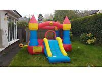 Kids Happy Hop Bouncy Castle with Slide and Fan Blower