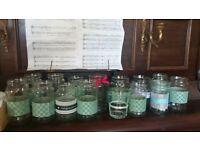 170 Wedding decorated jars