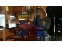 2 rare promontional elephants blue with a tag