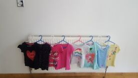 Bundle of girls short sleves tops age 4 to 5 years