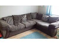 Corner sofa and storage foot stall