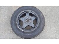 MERCEDES S CLASS SPARE WHEEL AND TYRE
