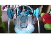 Baby swing chair, bouncer