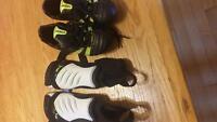 Umbro soccer cleats & Puma shin pads