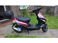 Moped 50 CC AJS Digitia 2016 reg with accessories