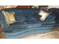 Chesterfield 3 Piece Suit with Footstool
