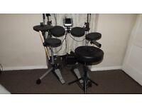 Axus Digital Drum Kit, Stool and Amp