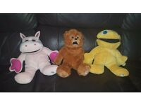 "George Bungle & Zippy 11"" plush beanie collectables"